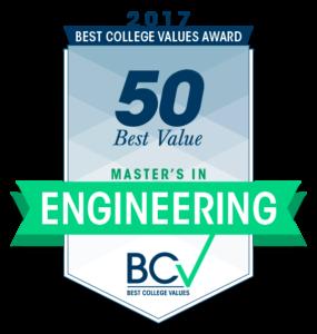 50 Best Value Master's in Engineering 2017