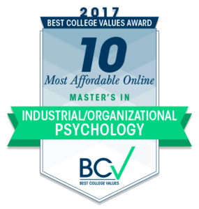 Top 10 Affordable Online Master's Degree in Industrial/Organizational Psychology