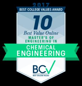10 BEST VALUE ONLINE MASTER'S OF ENGINEERING IN CHEMICAL ENGINEERING