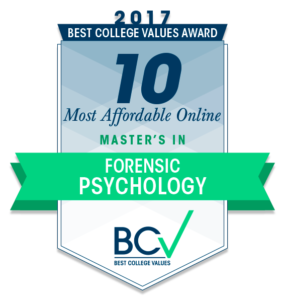 10 MOST AFFORDABLE ONLINE MASTER'S DEGREES IN FORENSIC PSYCHOLOGY