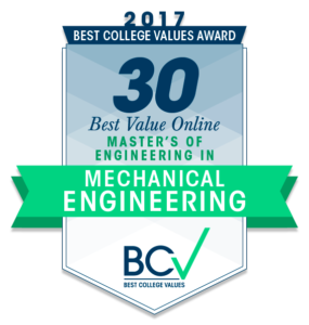 30 BEST VALUE ONLINE MASTER'S OF ENGINEERING IN MECHANICAL ENGINEERING