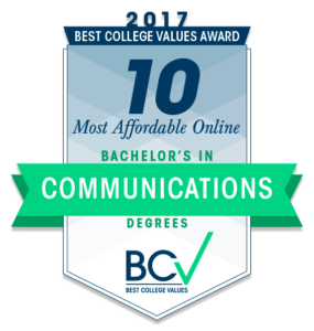 10 MOST AFFORDABLE ONLINE BACHELOR'S DEGREES IN COMMUNICATIONS