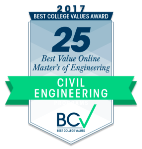 25 BEST VALUE ONLINE MASTER'S OF ENGINEERING IN CIVIL ENGINEERING