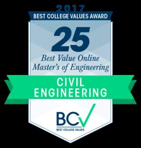 25 BEST VALUE ONLINE MASTER'S OF ENGINEERING IN CIVIL ENGINEERING