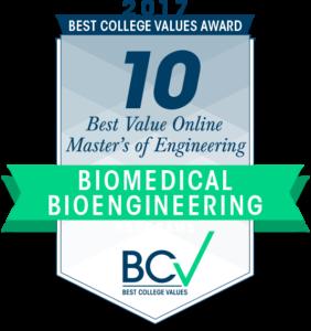 10 BEST VALUE ONLINE MASTER'S OF ENGINEERING IN BIOMEDICAL & BIOENGINEERING