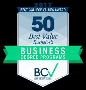 50 Best Value Bachelor's in Business Degree Programs 2017