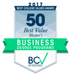 50 Best Value Master's in Business Degrees 2017