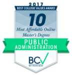 10 Most Affordable Online Master's Degrees in Public Administration 2017