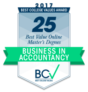 25 BEST VALUE ONLINE MASTER'S OF BUSINESS IN ACCOUNTANCY