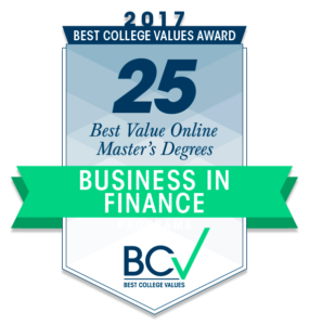 25 BEST VALUE ONLINE MASTER'S OF BUSINESS IN FINANCE 2017