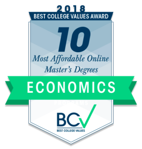 10 MOST AFFORDABLE ONLINE MASTER'S DEGREES IN ECONOMICS